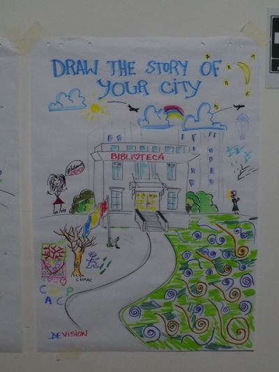 Draw the story of your city @Nocturna Bibliotecilor